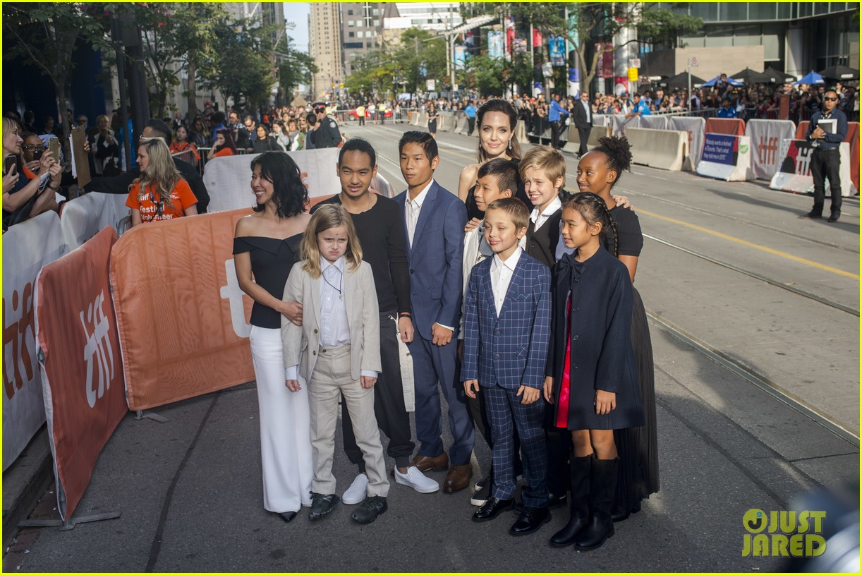 angelina jolies kids join her at first they killed my father tiff premiere 413955269