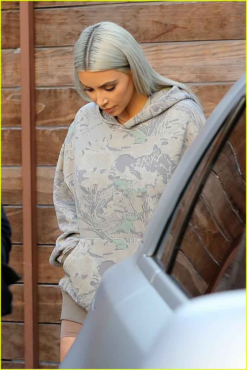 kim kardashian hits the studio in camo 013960599