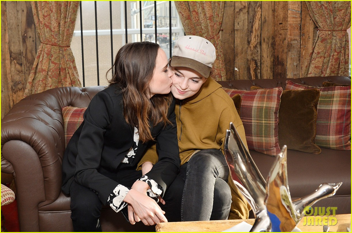ellen page gives girlfriend emma portner a kiss at tiff 023955760