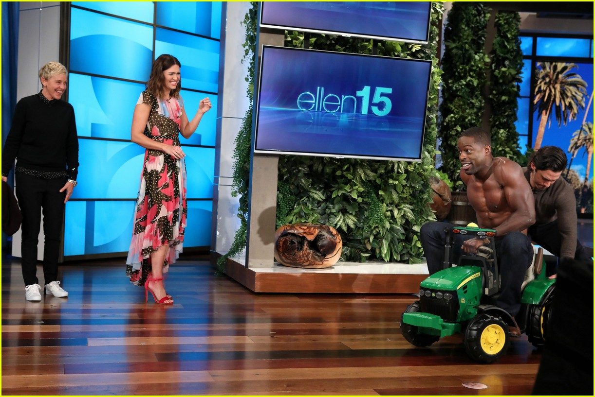 sterling k brown goes shirtless for his first ellen appearance 03