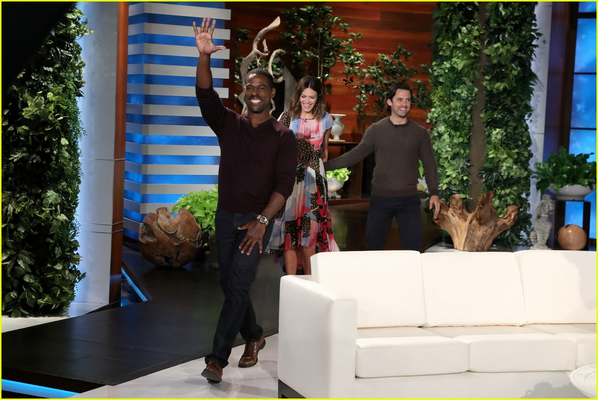 sterling k brown goes shirtless for his first ellen appearance 06