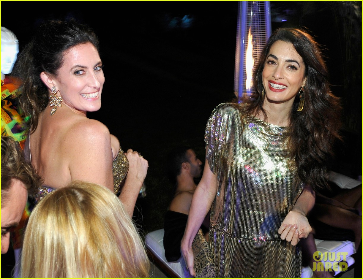 amal clooney has solo girls night out at william vintages gianni versace archive 23
