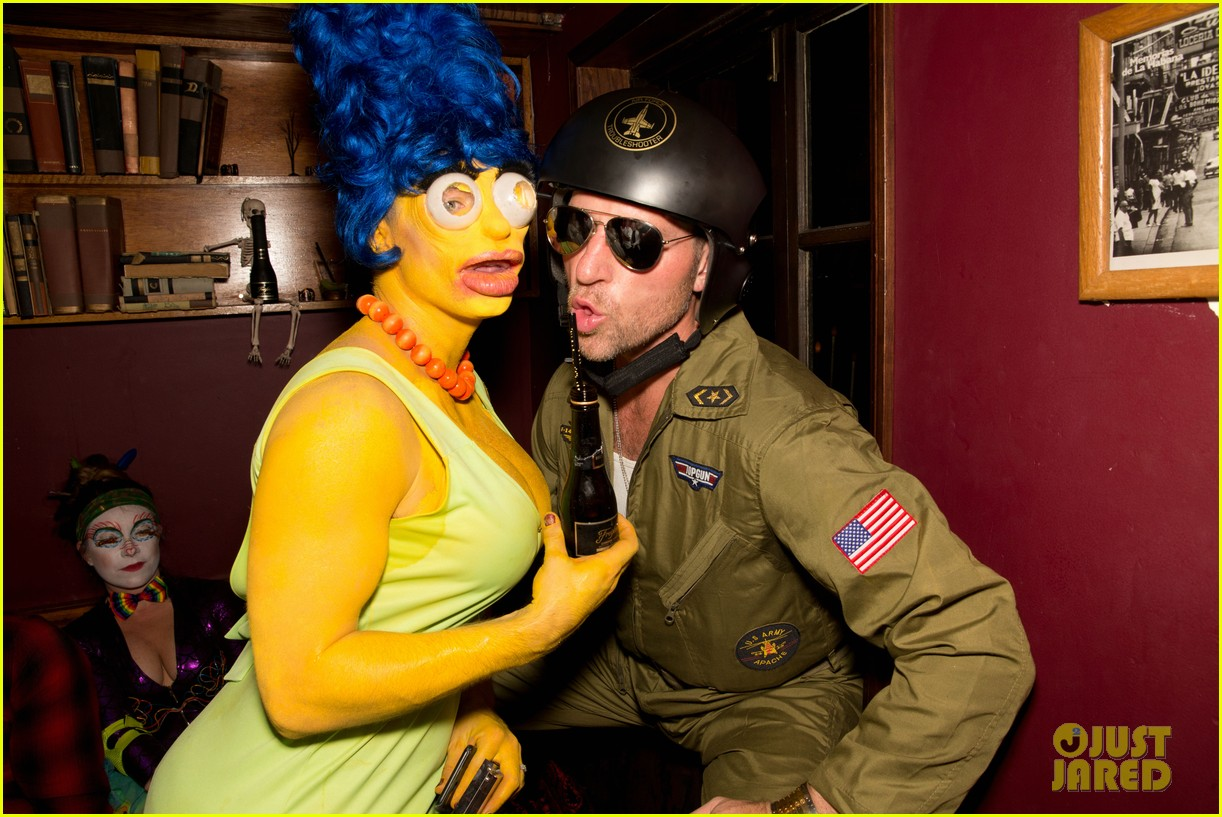 colton haynes channels marge simpson for halloween 023977701
