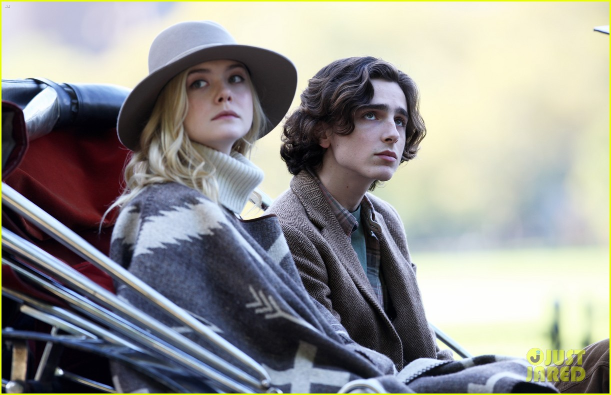 elle fanning timothee chalamet film woody allens upcoming film around nyc 053971700