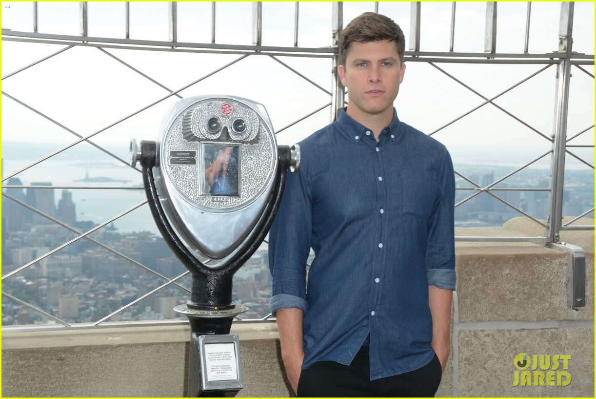 colin jost lights the empire state building in nyc 06