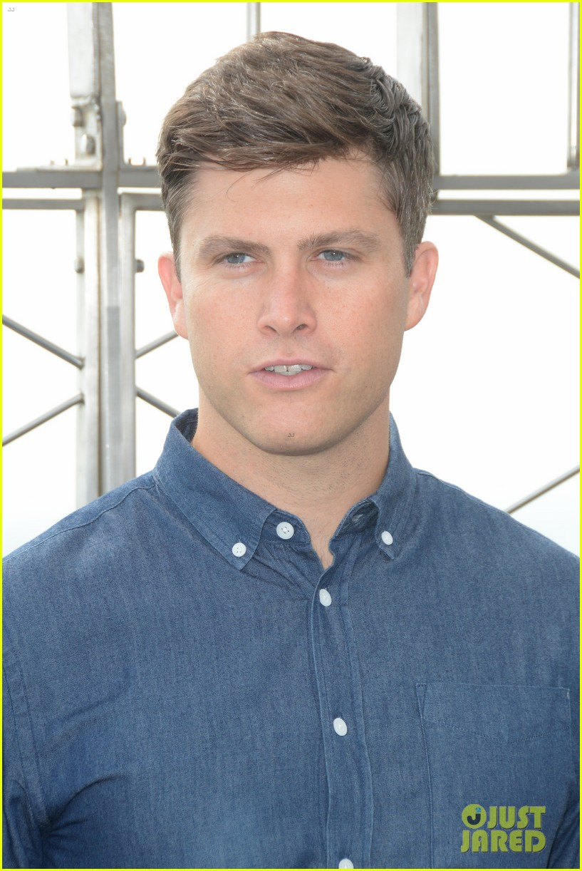 colin jost lights the empire state building in nyc 08