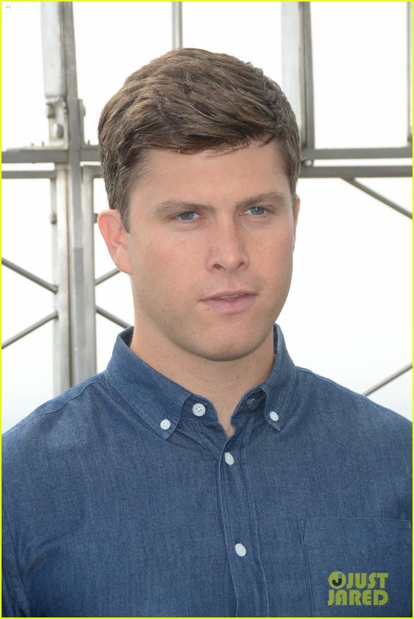 colin jost lights the empire state building in nyc 13