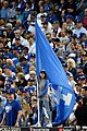 mila kunis ashton kutcher wave dodgers flag 03
