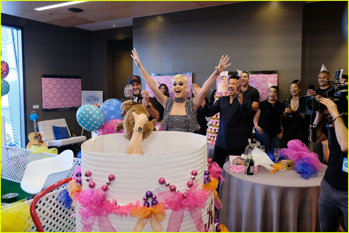 katy perry celebrates birthday early with an american idol puppy party 023975869