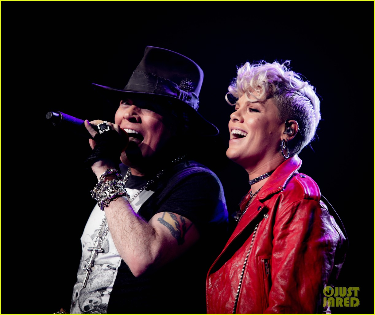 pink makes surprise appearance at guns n roses concert 013971624