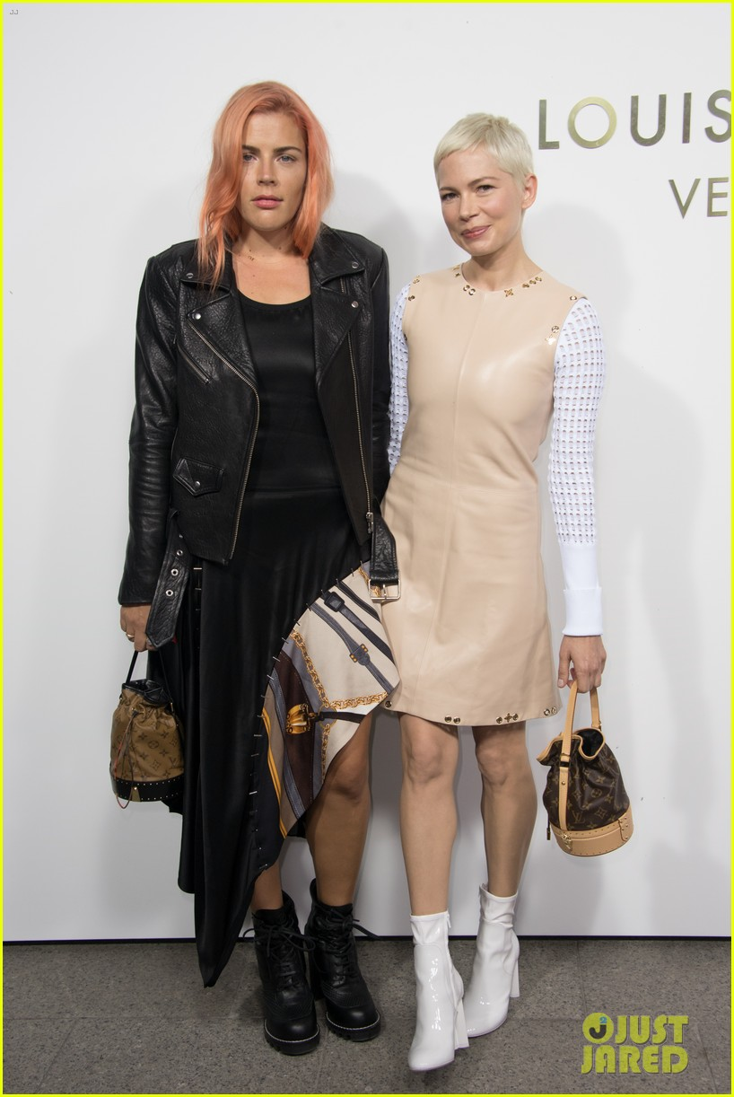 michelle williams bestie busy philipps hit up louis vuitton vendome flagship opening 043967322