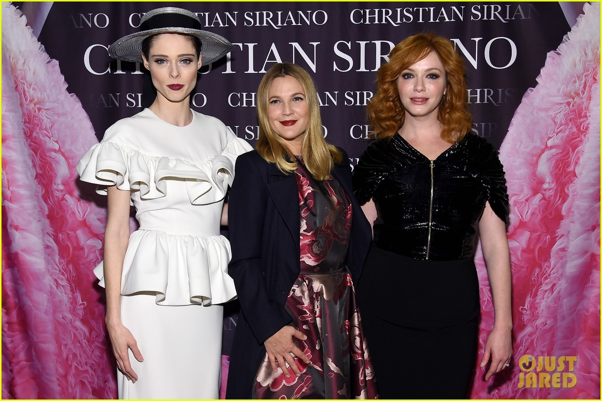 drew barrymore christina hendricks christian siriano dresses to dream about book launch 073984817