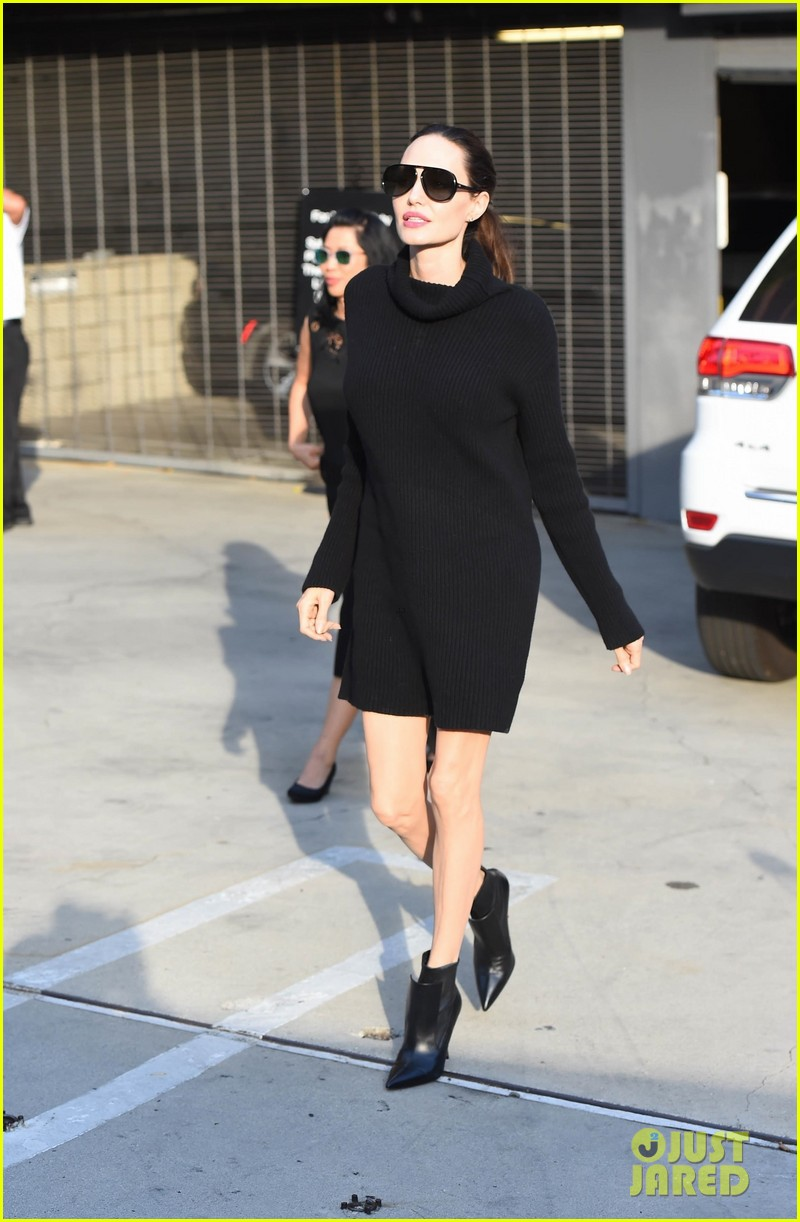 angelina jolie looks chic greeting fans in hollywood 053982373