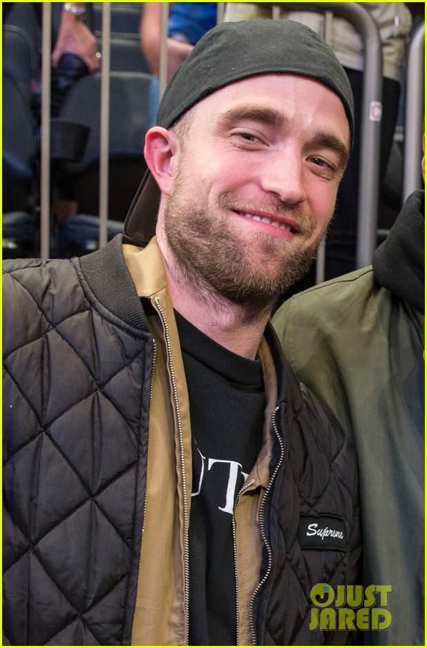 robert pattinson checks out a basketball game in nyc 053994797