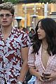 gregg sulkin and chloe bennet step out together at the grove 03