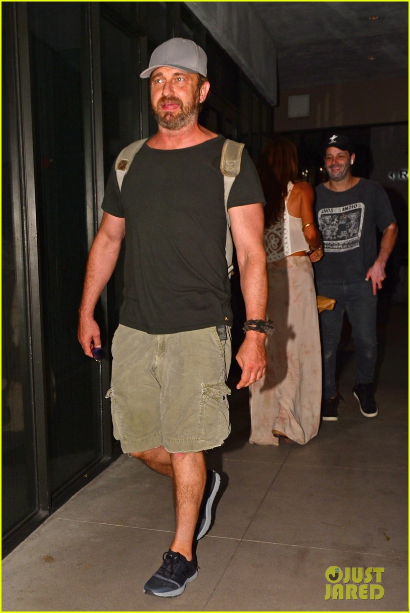gerard butler girlfriend morgan brown enjoy a night in miami 013999448
