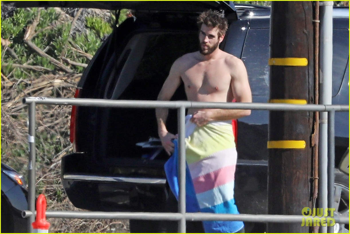 liam hemsworth gets shirtless after surfing in malibu see pics 10
