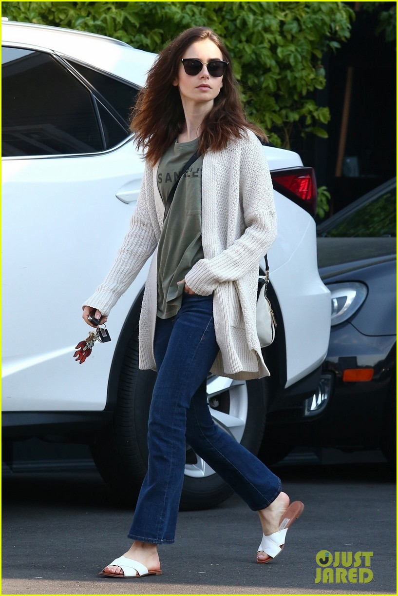 lily collins is off to the countryside for the holidays 01