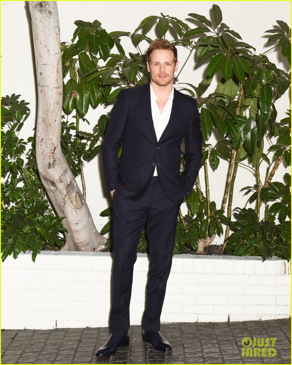 sam heughan caitriona balfe step out for w magazines pre golden globes party 044007786