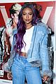 justine skye winnie harlow step out for uniqlo u x v magazine launch party 34