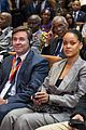 rihanna joins french president emmanuel macron at education conference 08