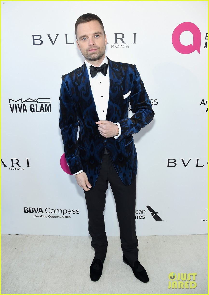 sebastian stan aaron taylor johnson look dapper at elton john oscars party 15