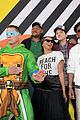 patrick schwarzenegger and kat graham hit the kids choice awards orange carpet 06