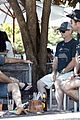 chris hemsworth matt damon out for lunch 10