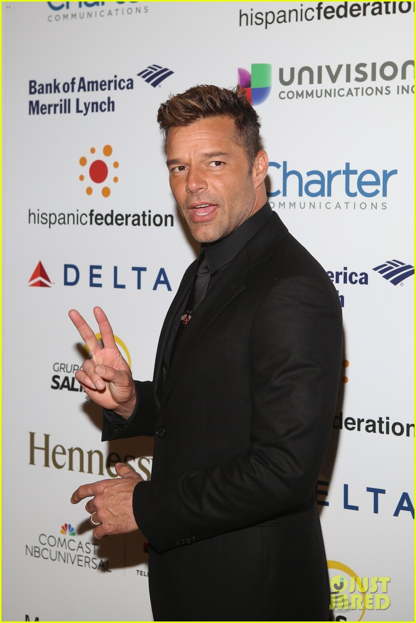 ricky martin lin manuel miranda suit up for rising stronger gala in NYC 02