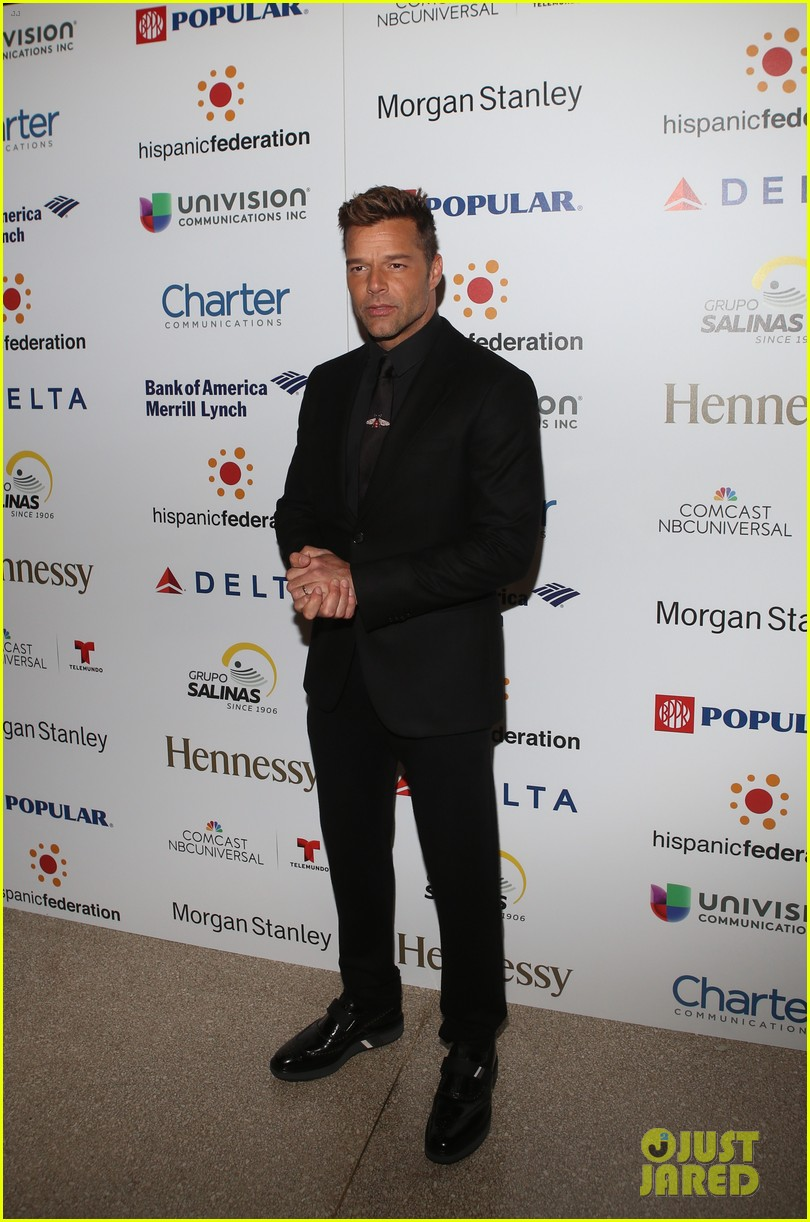 ricky martin lin manuel miranda suit up for rising stronger gala in NYC 06