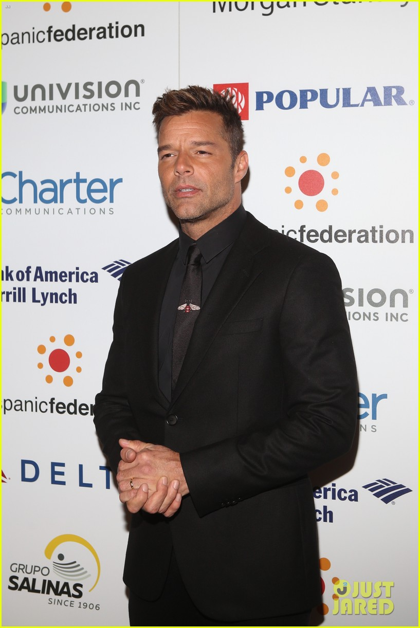 ricky martin lin manuel miranda suit up for rising stronger gala in NYC 10