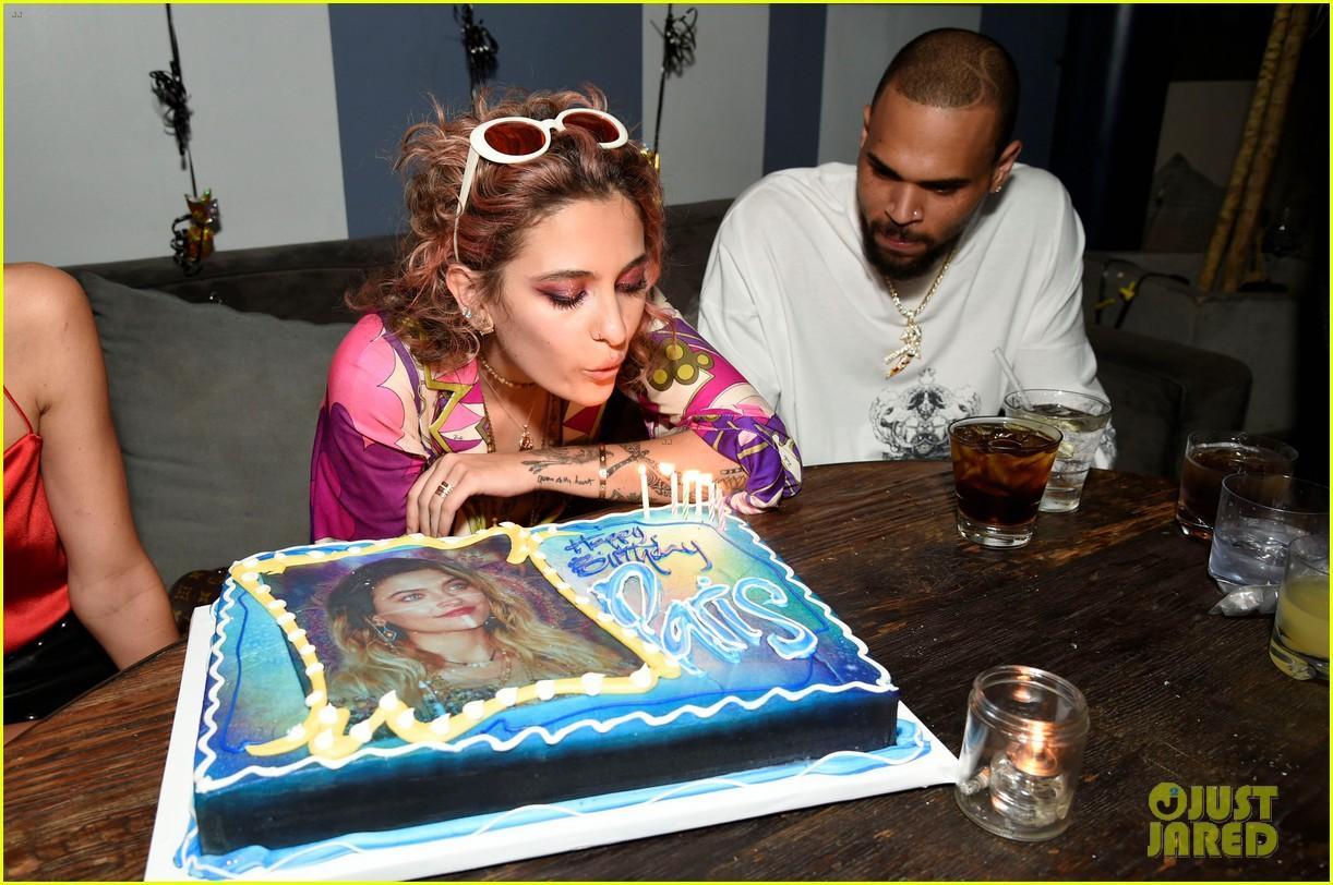 Full Sized Photo Of Paris Jackson Birthday Party Chris Brown 10