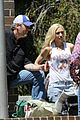 gwen stefani blake shelton take her kids to the park 03