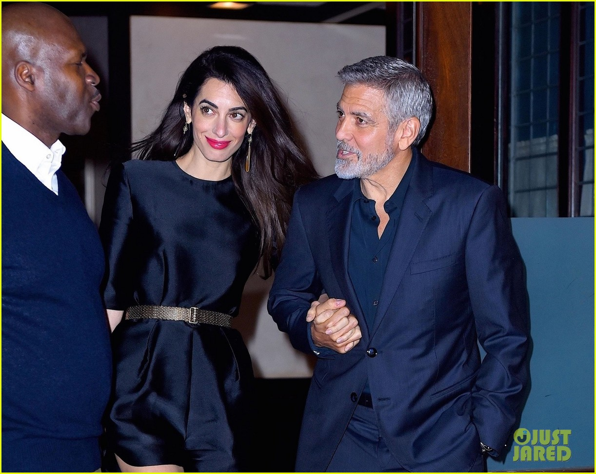 George Clooney celebrates his birthday in New York at Laconda Verde George-clooney-amal-birthday-dinner-05
