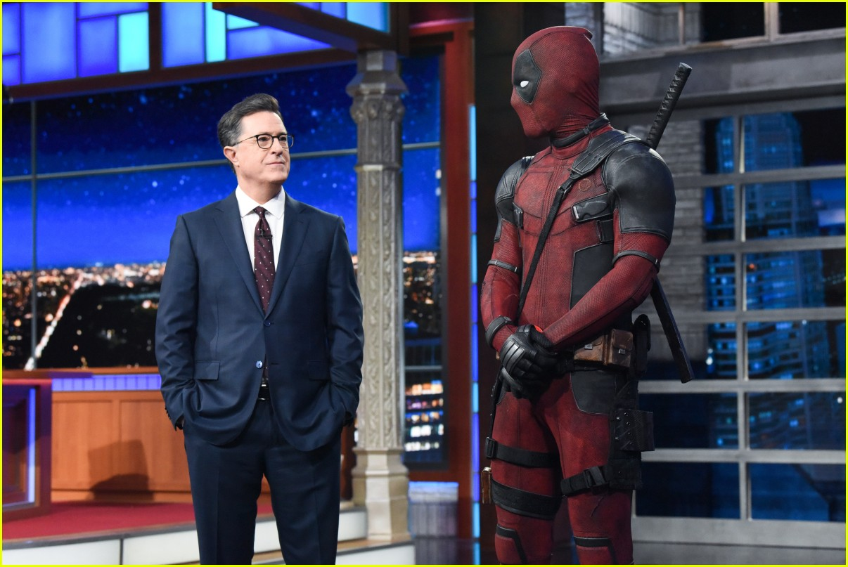 deadpool crashes stephen colbert 02