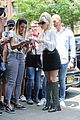 lady gaga greets fans during another day at the studio 12
