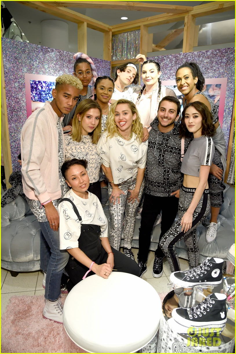 87461d532dc7 Full Sized Photo of miley cyrus launches converse collection at the ...