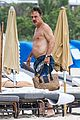 chris noth goes shirtless on the beach during miami vacation 14