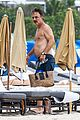 chris noth goes shirtless on the beach during miami vacation 18