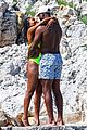 gabrielle union and shirtless dwyane wade show some sweet pda on vacation 05