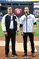 stephen colbert patrick wilson sing national anthem at mets game 01