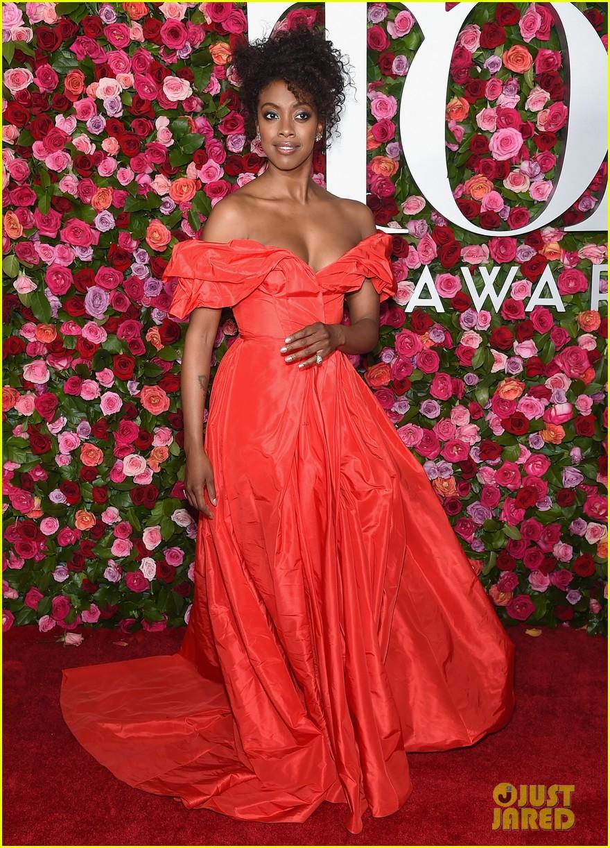 lauren ridloff condola rashad go glam in red for tony awards 2018 01