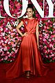 lauren ridloff condola rashad go glam in red for tony awards 2018 04
