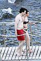 felicity jones charles guard hit the beach honeymoon 24