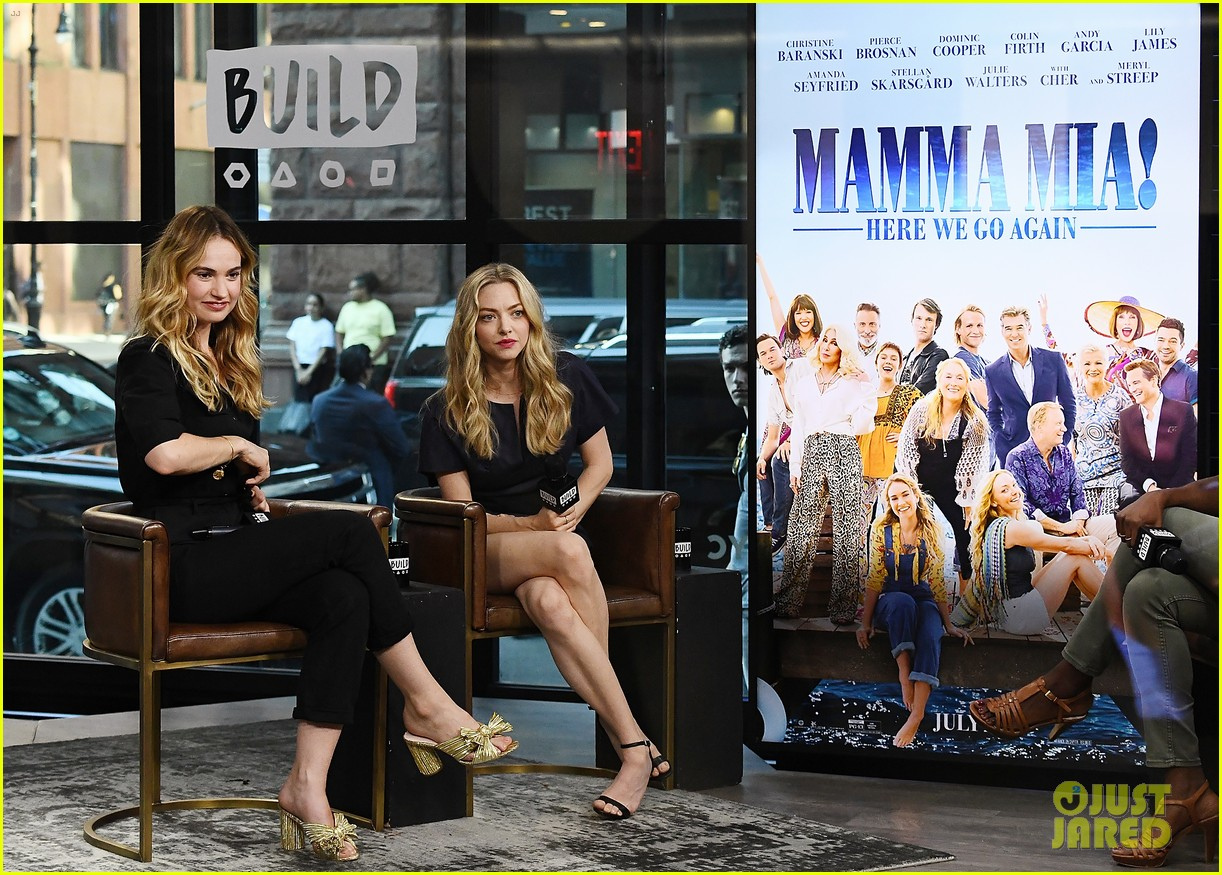 lily james amanda seyfried build interview 04