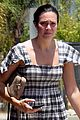 mandy moore keeps it cool in plaid summer dress for spa visit 04