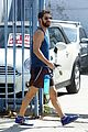 darren criss shows off his biceps while heading to the gym 06