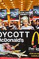 edie falco protests mcdonalds 04