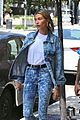 hailey baldwin wears denim outfit to church with justin bieber 34