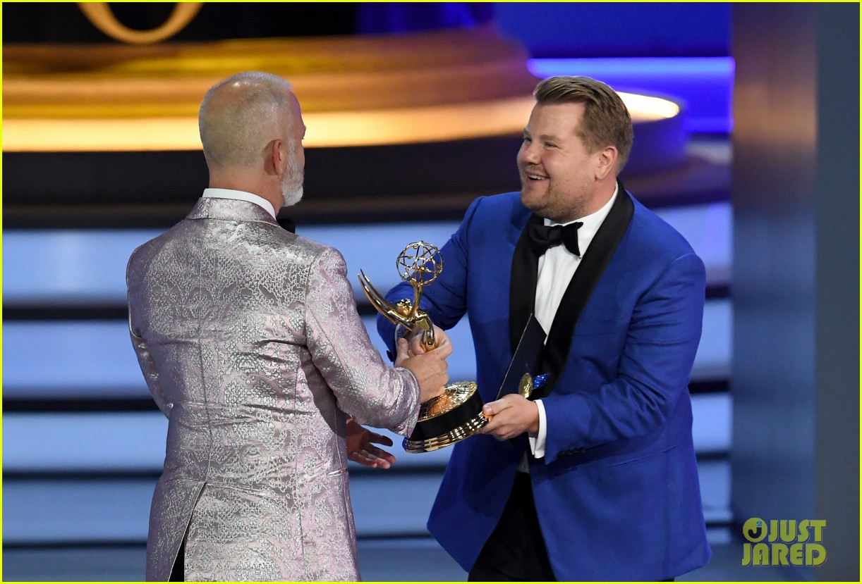 jimmy kimmel and james corden present at the emmys 2018 18